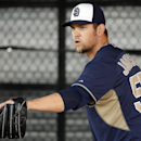 San Diego Padres pitcher Josh Johnson prepares to throw in the bullpen during spring training baseball practice Sunday, Feb. 16, 2014, in Peoria, Ariz The Associated Press