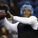Carolina Panthers quarterback Cam Newton throws before an NFL divisional playoff football game against the Seattle Seahawks in Seattle, Saturday, Jan. 10, 2015 The Associated Press
