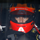 Jeff Gordon sits in his car before a practice session for Sunday's NASCAR Sprint Cup Series auto race at Pocono Raceway, Friday, Aug. 1, 2014, in Long Pond, Pa. (AP Photo/Matt Slocum)