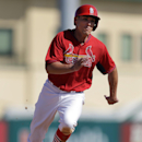 St. Louis Cardinals' Peter Bourjos rounds third and heads home to score on a single by Shane Robinson during the fifth inning of an exhibition baseball game against the New York Mets on Sunday, March 2, 2014, in Jupiter, Fla The Associated Press