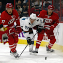 Hertl, Grosenick lead Sharks over Hurricanes 2-0 The Associated Press
