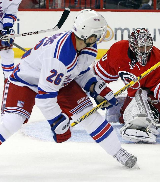 J. Staal, Tlusty lead Hurricanes over Rangers