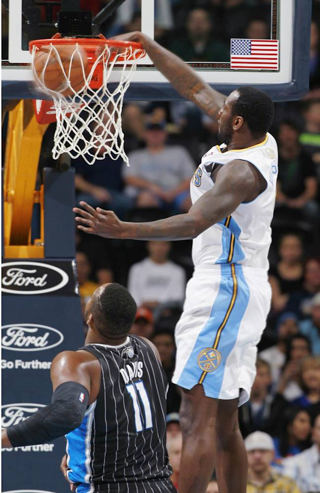 Faried's 17 points lead Nuggets past Magic, 120-94