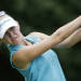 Jessica Korda watches her drive from the third tee during the third round of the Mobile Bay LPGA Classic golf tournament at Robert Trent Jones Golf Trail at Magnolia Grove in Mobile, Ala., Saturday, May 18, 2013. (AP Photo/Dave Martin)