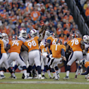 Denver Broncos kicker Connor Barth kicks a field goal against the Buffalo Bills during the second half in an NFL football game Sunday, Dec. 7, 2014, in Denver The Associated Press