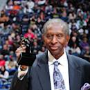 ATLANTA, GA - FEBRUARY 12: Earl Lloyd, the first African-American to play in the NBA is being honored to celebrate black history month at the game against the Atlanta Hawks and the Miami Heat on February 12, 2012 at Philips Arena in Atlanta, Georgia. (Photo by Scott Cunningham/NBAE via Getty Images)