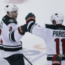Parise back in lineup for Wild The Associated Press