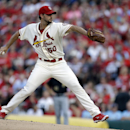 St. Louis Cardinals starting pitcher Adam Wainwright throws during the first inning of a baseball game against the Pittsburgh Pirates Saturday, Sept. 7, 2013, in St. Louis. (AP Photo/Jeff Roberson)