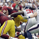 Washington Redskins' Tanard Jackson (36) scores against the Houston Texans on a 1-yard dive during the second quarter of an NFL football game Sunday, Sept. 7, 2014, in Houston The Associated Press