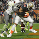 Team Irvin Jimmy Graham, of the New Orleans Saints, catches a touchdown pass while defended by Team Carter's Antonio Cromartie, of the Arizona Cardinals, during the second half of the NFL Football Pro Bowl Sunday, Jan. 25, 2015, in Glendale, Ariz The Asso