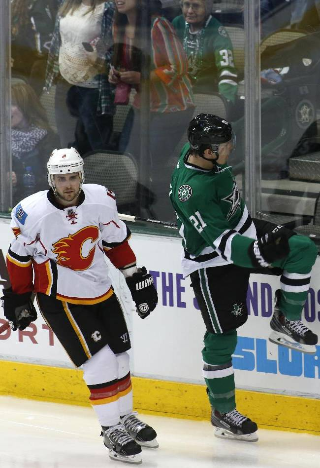 Stars lose 1st home game since Peverley's collapse