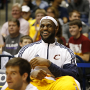 CINNCINNATI, OH - OCTOBER 15: LeBron James #23 of the Cleveland Cavaliers smiles during the game against the Indiana Pacers at the Cintas Center at Xavier University on October 15, 2014 in Cincinnati, Ohio. (Photo by Gregory Shamus/NBAE via Getty Images)