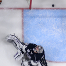 Los Angeles Kings goalie Jonathan Quick sits on the ice after giving up a goal to Anaheim Ducks center Ryan Getzlaf during the second period of an NHL hockey game, Saturday, Jan. 17, 2015, in Los Angeles The Associated Press