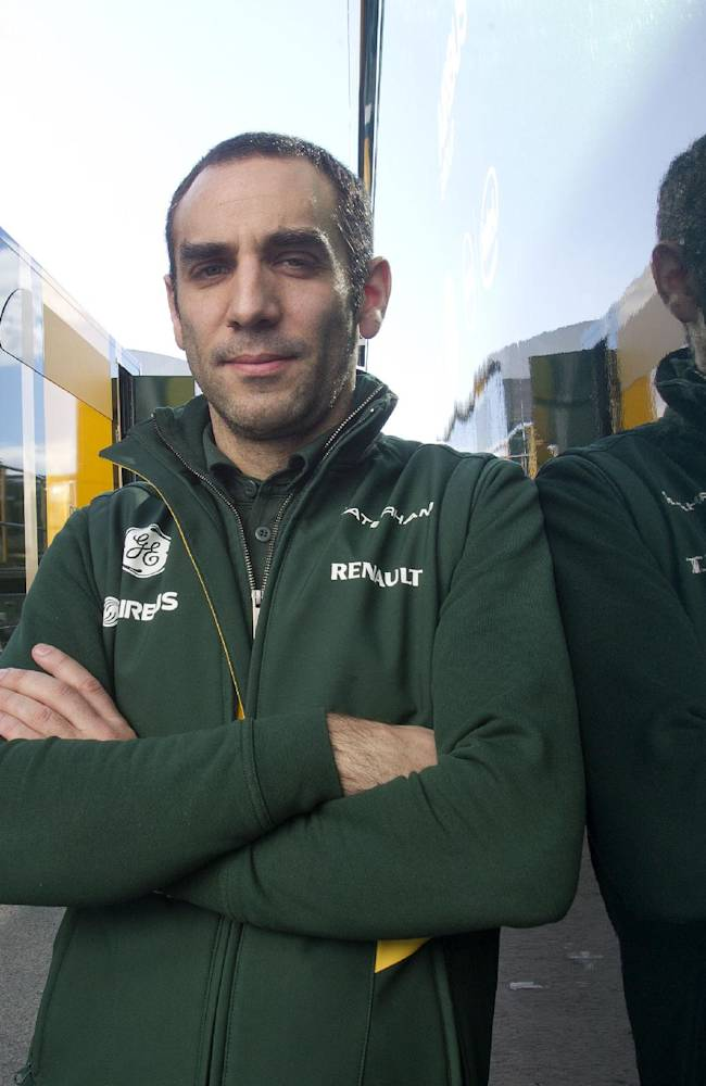 Cyril Abiteboul, Caterham team principal poses for a picture during the 2014 Formula One Testing at the Circuito de Jerez on Thursday, Jan. 30, 2014, in Jerez de la Frontera, Spain. Formula One's sweeping rule changes may be behind defending champion Red Bull's dismal start to the preseason, but the more modest teams on the circuit don't see the makings of a major power shift. Abiteboul said he supported the move to push innovation in F1 so that it could continue its mission of