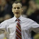 Florida head coach Billy Donovan reacts to play against Mississippi during the first half of an NCAA college basketball game in the final round of the Southeastern Conference tournament, Sunday, March 17, 2013, in Nashville, Tenn. (AP Photo/Dave Martin)