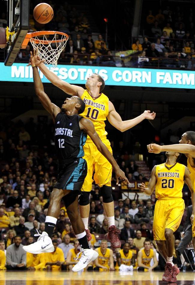 Minnesota beats Coastal Carolina 82-72