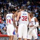LOS ANGELES, CA - OCTOBER 22: The Los Angeles Clippers huddle during a game against the Phoenix Suns on October 22, 2014 at the Staples Center in Los Angeles, California. (Photo by Andrew D. Bernstein/NBAE via Getty Images)