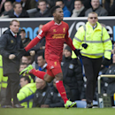 Liverpool s Daniel Sturridge celebrates after scoring against Everton during their English Premier League soccer match at Goodison Park Stadium, Liverpool, England, Saturday Nov. 23, 2013