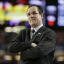 Wichita State head coach Gregg Marshall watches play against Louisville during the first half of the NCAA Final Four tournament college basketball semifinal game Saturday, April 6, 2013, in Atlanta. (AP Photo/Charlie Neibergall)