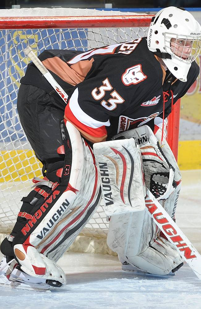 CHRIS DRIEDGER of the Calgary Hitmen