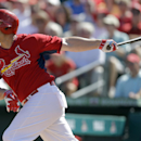 St. Louis Cardinals' Matt Holliday watches his RBI-double during the third inning of a spring exhibition baseball game against the New York Mets, Sunday, March 2, 2014, in Jupiter, Fla The Associated Press