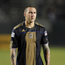 Philadelphia Union defender Danny Califf (4) walks off the field after losing to Los Angeles Galaxy 3-1 during an MLS soccer match, Saturday, May 1, 2010, in Carson, Calif. (AP Photo/Alex Gallardo)