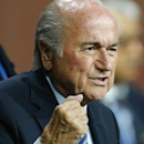 FIFA President Sepp Blatter reacts after he was re-elected at the 65th FIFA Congress in Zurich, Switzerland, May 29, 2015.    REUTERS/Arnd Wiegmann