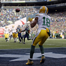 Green Bay Packers' Randall Cobb catches a touchdown pass during the first half of the NFL football NFC Championship game against the Seattle Seahawks Sunday, Jan. 18, 2015, in Seattle The Associated Press