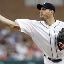 Detroit Tigers starter Max Scherzer pitches against the Chicago White Sox in the second inning of a baseball game, Saturday, Sept. 1, 2012, in Detroit. (AP Photo/Duane Burleson)