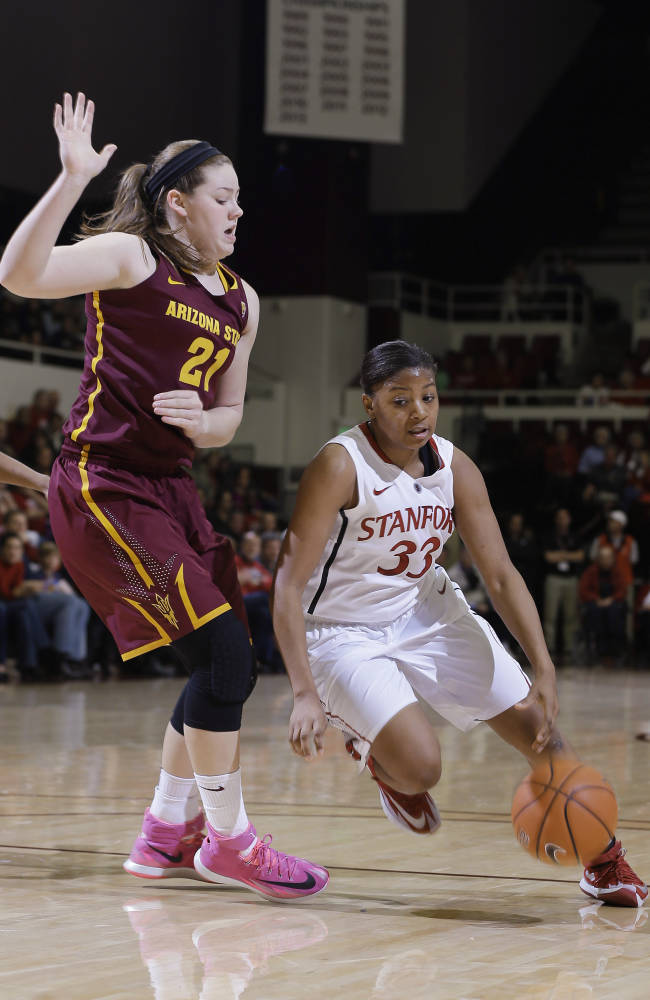 No. 6 Stanford women rout No. 15 Arizona State