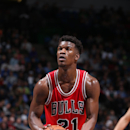 MINNEAPOLIS, MN - NOVEMBER 1: Jimmy Butler #21 of the Chicago Bulls prepares to shoot a free throw against the Minnesota Timberwolves on November 1, 2014 at Target Center in Minneapolis, Minnesota. (Photo by David Sherman/NBAE via Getty Images)
