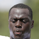 Atlanta Falcons linebacker Prince Shembo (53) is shown during an NFL football training camp Tuesday, July 29 2014 in Flowery Branch, Ga. (AP Photo/Brynn Anderson)