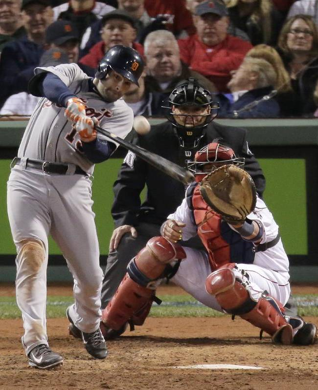 Ortiz, Red Sox sting Tigers 6-5, tie ALCS at 1
