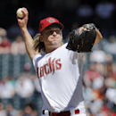 Arizona Diamondbacks starting pitcher Bronson Arroyo throws against the San Francisco Giants during the second inning of a baseball game, Thursday, April 3, 2014, in Phoenix The Associated Press