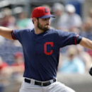 Cleveland Indians' Travis Banwart works against the Seattle Mariners in the second inning of a spring training baseball game, Wednesday, March 5, 2014, in Peoria, Ariz The Associated Press