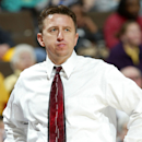 Southeast Missouri State head coach B.J. Smith looks on with concern as his team falls behind in the first half of its first-round game against Stanford in the NCAA women's basketball tournament in Denver on Saturday, March 18, 2006. (AP Photo/Jack Dempsey)