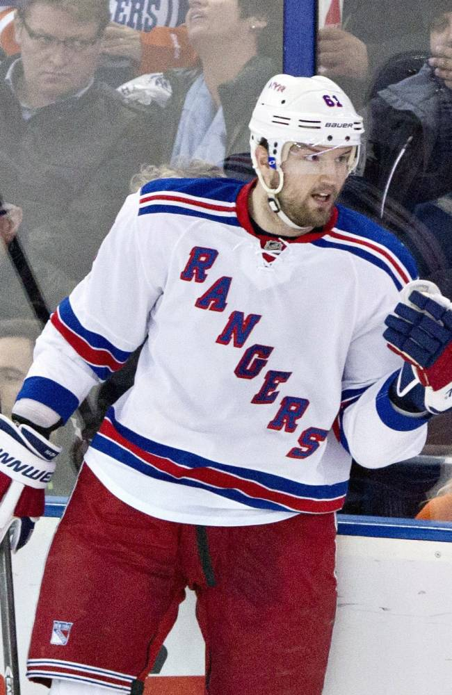Talbot, Nash lead Rangers over Oilers 5-0