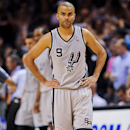 SAN ANTONIO, TX - MAY 21: Tony Parker #9 of the San Antonio Spurs looks on while playing against the Memphis Grizzlies in Game Two of the Western Conference Finals during the 2013 NBA Playoffs on May 21, 2013 at the AT&T Center in San Antonio, Texas.  (Photo by Noah Graham/NBAE via Getty Images)