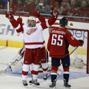 Red Wings Rally To Beat Capitals 4-2 Win