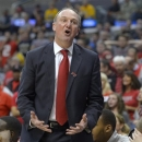 Ohio State coach Thad Matta reacts during the first half of the West Regional final against Wichita State in the NCAA men's college basketball tournament, Saturday, March 30, 2013, in Los Angeles. (AP Photo/Mark J. Terrill)