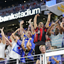 IMAGE DISTRIBUTED FOR INTERNATIONAL CHAMPIONS CUP - Fans cheer during the International Champions Cup soccer match between Chelsea FC and AC Milan on Wednesday, Aug. 3, 2016 at US Bank Stadium in Minneapolis. (Andy Clayton-King/AP Images for International
