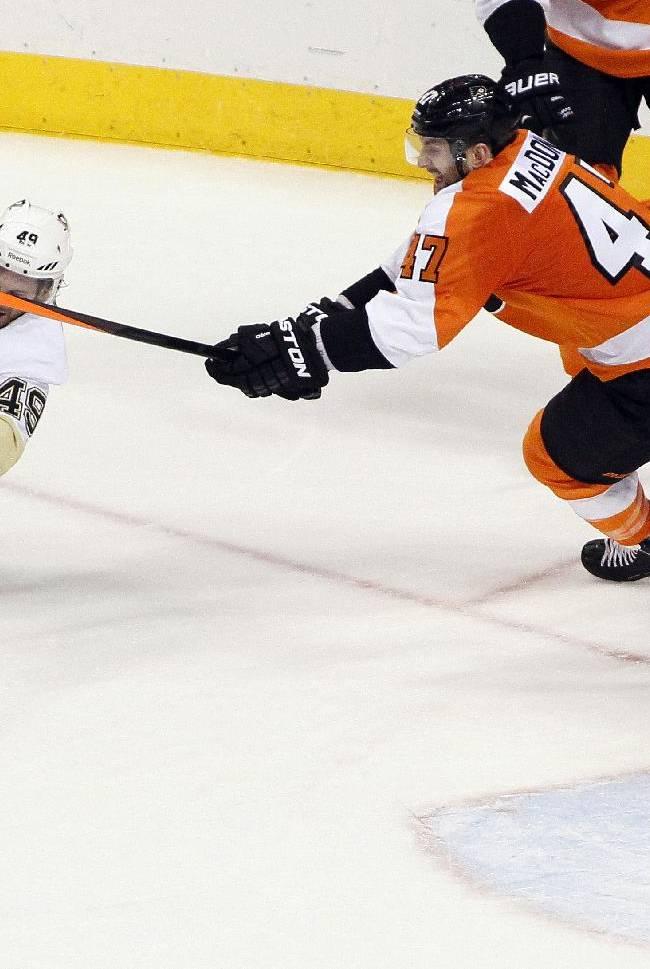Flyers shut out Penguins 4-0