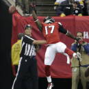 Atlanta Falcons wide receiver Devin Hester (17) can't make the catch against the Pittsburgh Steelers during the second half of an NFL football game, Sunday, Dec. 14, 2014, in Atlanta The Associated Press