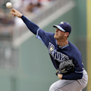 Tampa Bay Rays pitcher Mark Lowe pitches in the eighth inning of an exhibition baseball game against the Boston Red Sox in Fort Myers, Fla., Sunday, March 23, 2014. The Rays won 9-2 The Associated Press