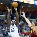 MEMPHIS, TN - MARCH 01: Zach Randolph #50 of the Memphis Grizzlies shoots the ball during the game against the Cleveland Cavaliers at FedExForum on March 1, 2014 in Memphis, Tennessee. (Photo by Andy Lyons/Getty Images)