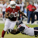 Arizona Cardinals running back Stepfan Taylor (30) is tackled by Houston Texans defensive end Tim Jamison (96) during the first half of an NFL preseason football game, Saturday, Aug. 9, 2014, in Glendale, Ariz The Associated Press