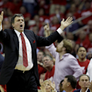 Houston Rockets coach Kevin McHale reacts to a call by the officials during the third quarter in Game 2 of an opening-round NBA basketball playoff series against the Portland Trail Blazers Wednesday, April 23, 2014, in Houston. Portland won 112-105 The As