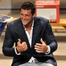 Tim Tebow speaks at New Life Christian Fellowship during a fundraiser for the Providence School and the Tim Tebow Foundation on Friday, May 17, 2013, in Jacksonville, Fla. (AP Photo/Florida Times-Union, Bruce Lipsky)