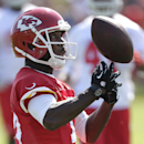 Kansas City Chiefs wide receiver Donnie Avery (17) catches a ball during NFL football training camp Thursday, July 24, 2014, in St. Joseph, Mo The Associated Press
