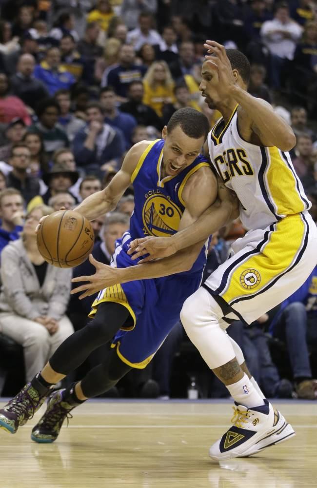 Warriors hand Pacers rare home loss, 98-96